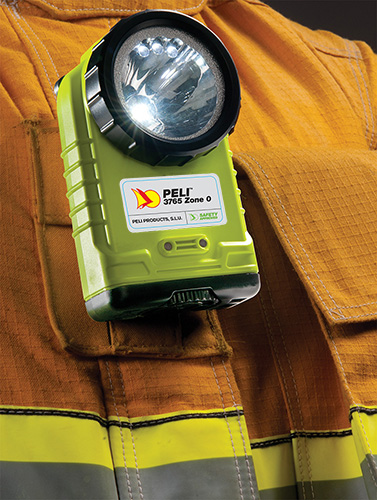 peli fire fighter clip led safety flashlight