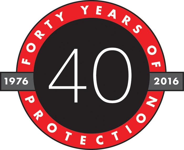 pelican peli 40 years anniversary logo
