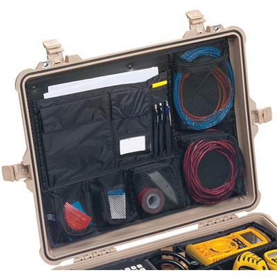 pelican 1600 case lid organizer