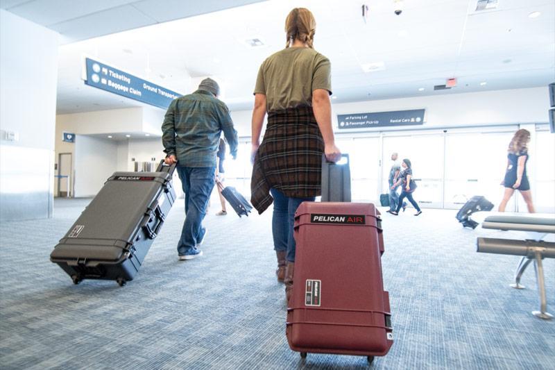pelican travel luggage wheeled case
