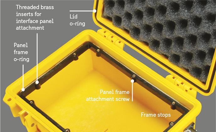 peli electronic panel frame inserts