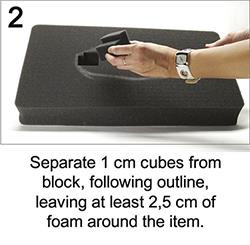 peli rack foam black cutout