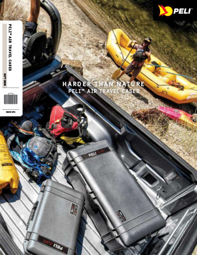 peli air travel case brochure