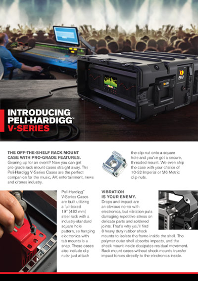 peli v series rack mount brochure