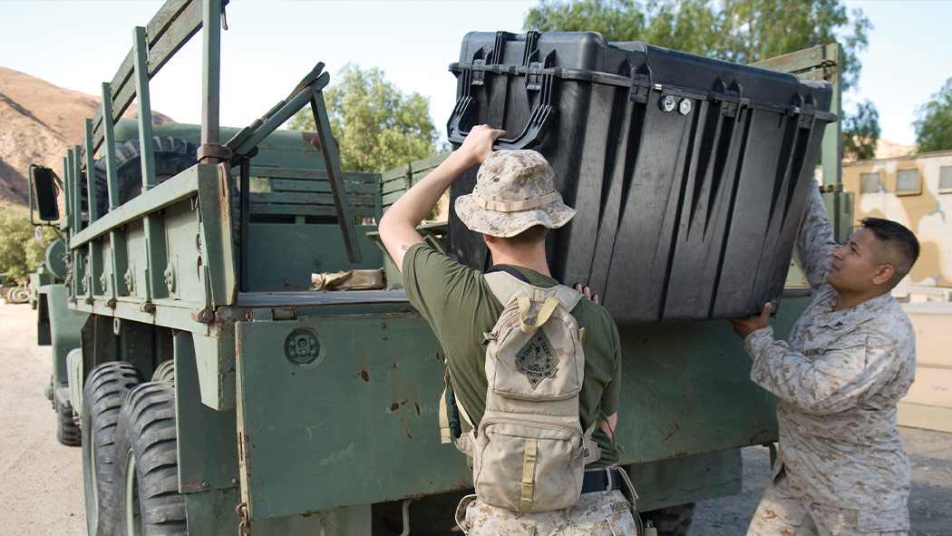 pelican 500 heavy duty military case