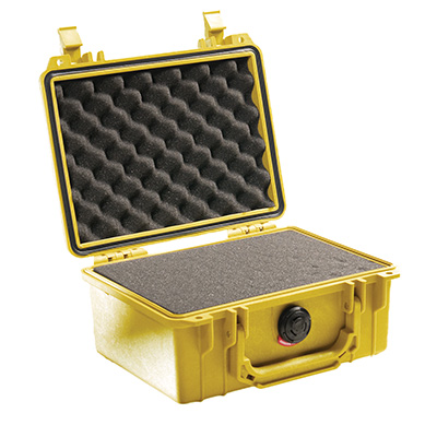pelican 1150 yellow foam gun case