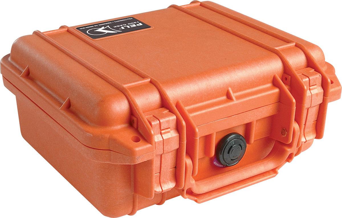 peli 1200 orange rugged case