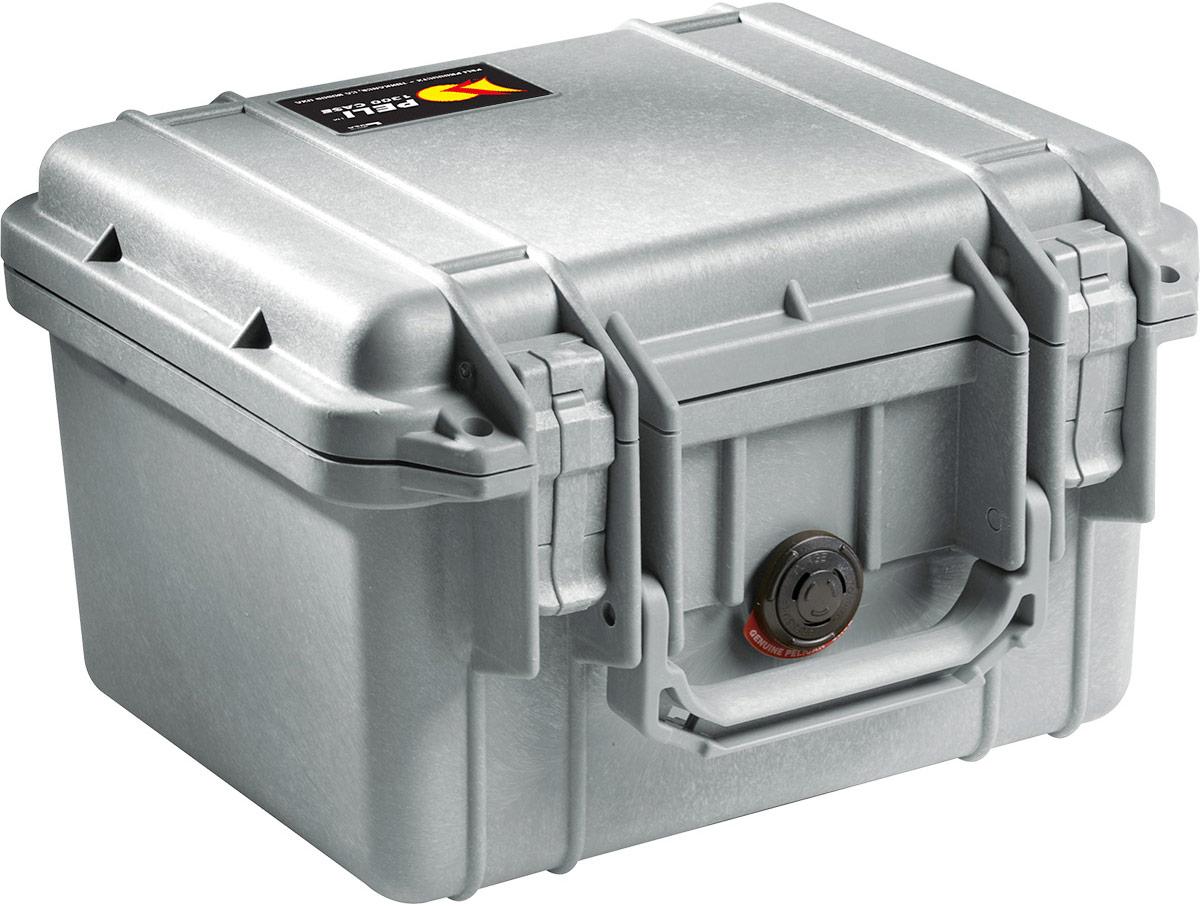 peli 1300 silver waterproof case