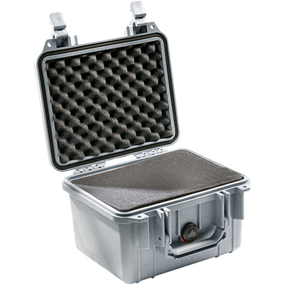 pelican 1300 silver foam hard case