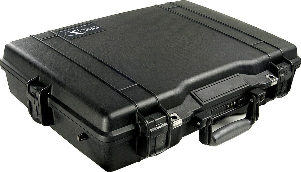 peli watertight hard briefcase laptop case