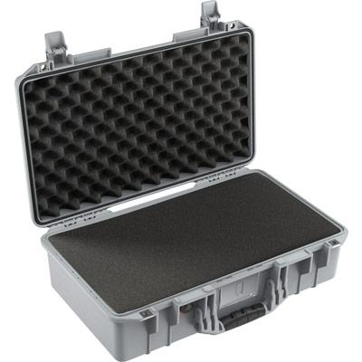 pelican 1525 air foam silver dslr camera case