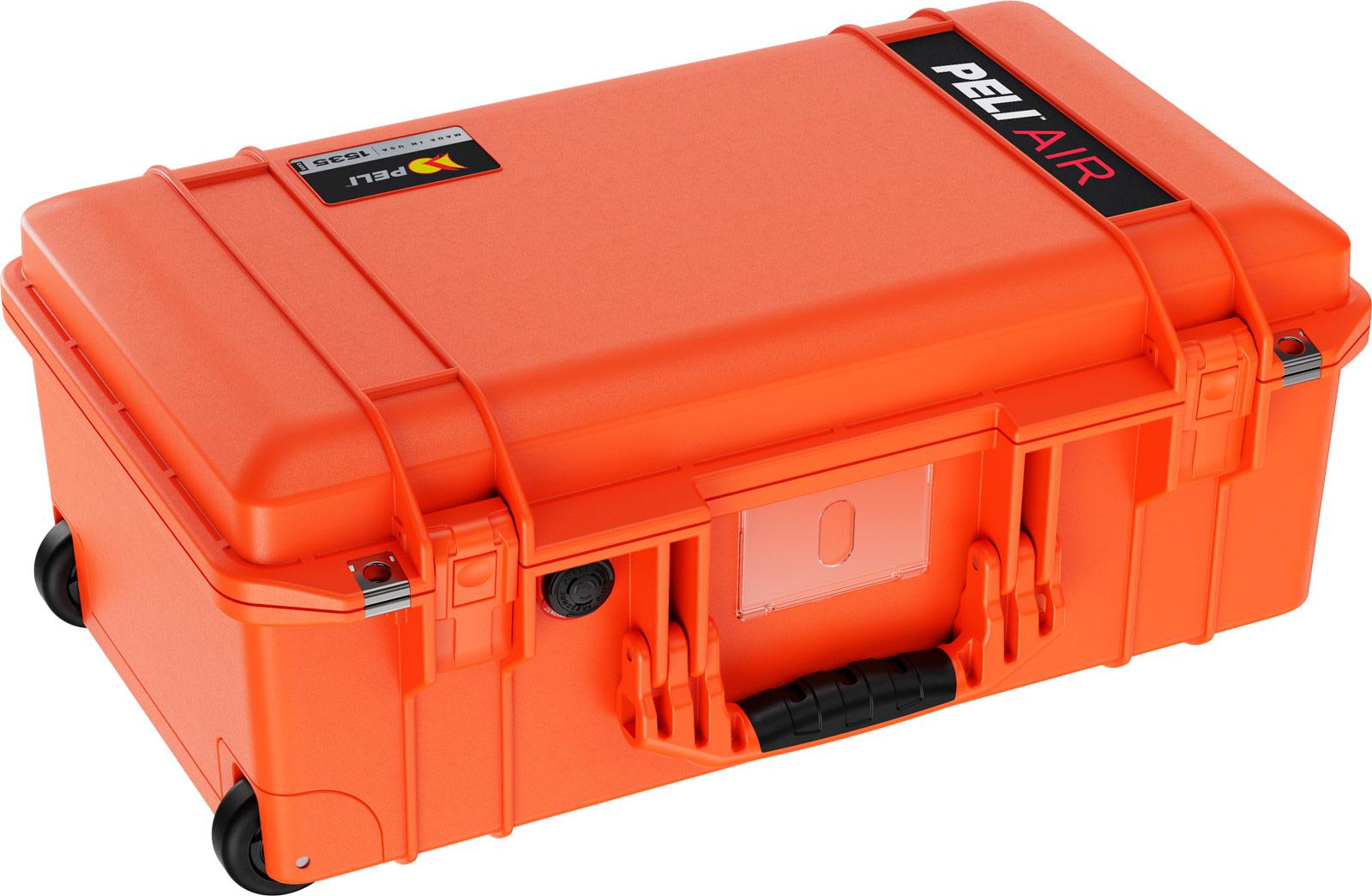 peli orange air case carry on cases
