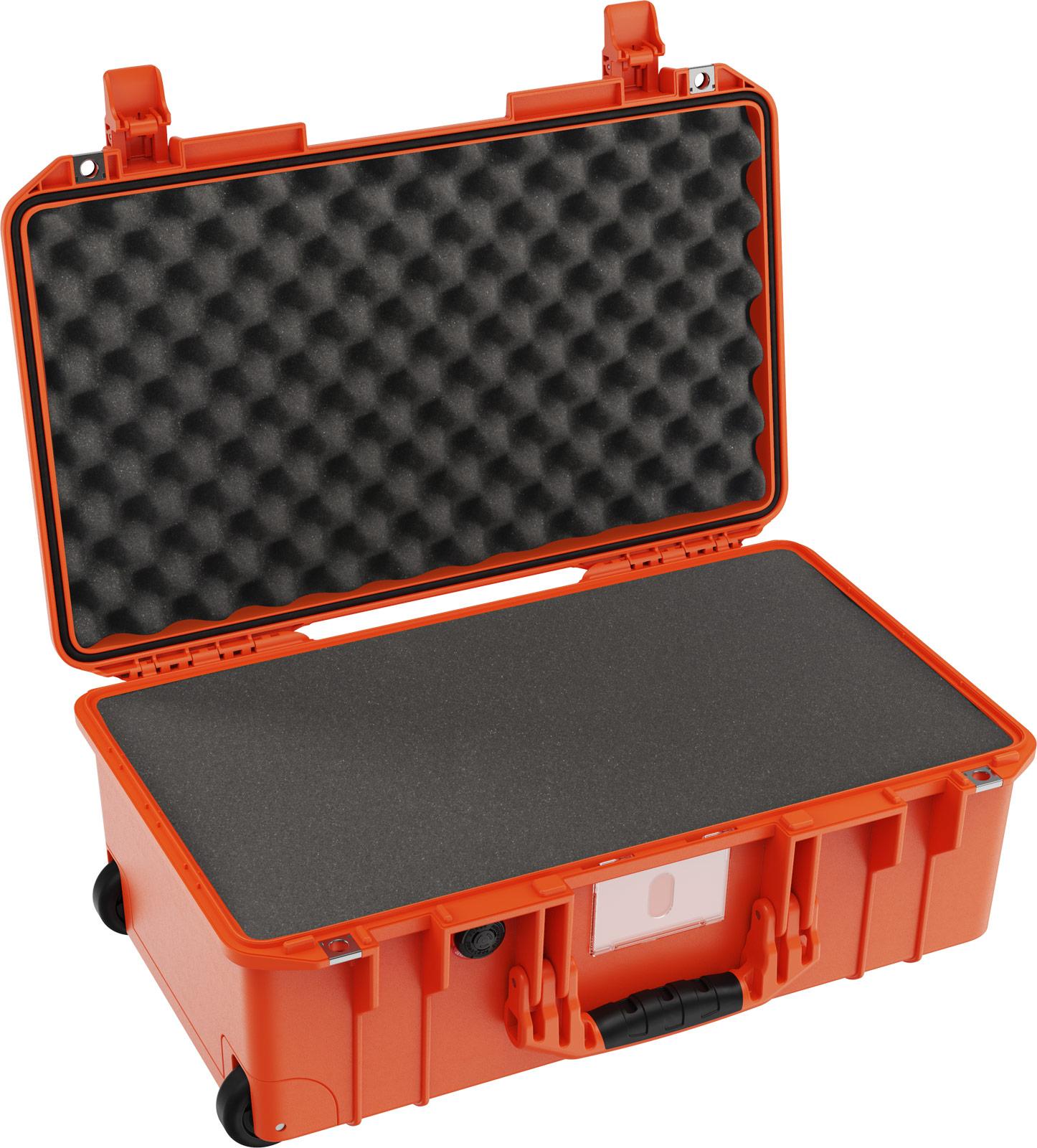 pelican 1535 orange foam carry on case