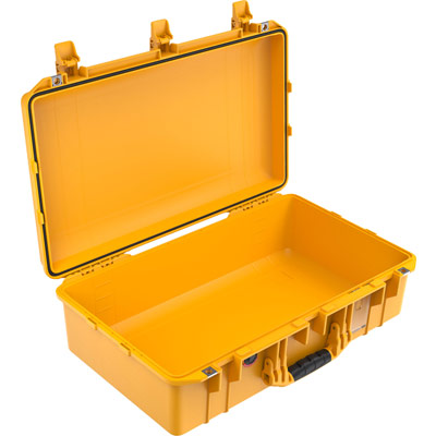 pelican air 1555 watertight yellow camera case
