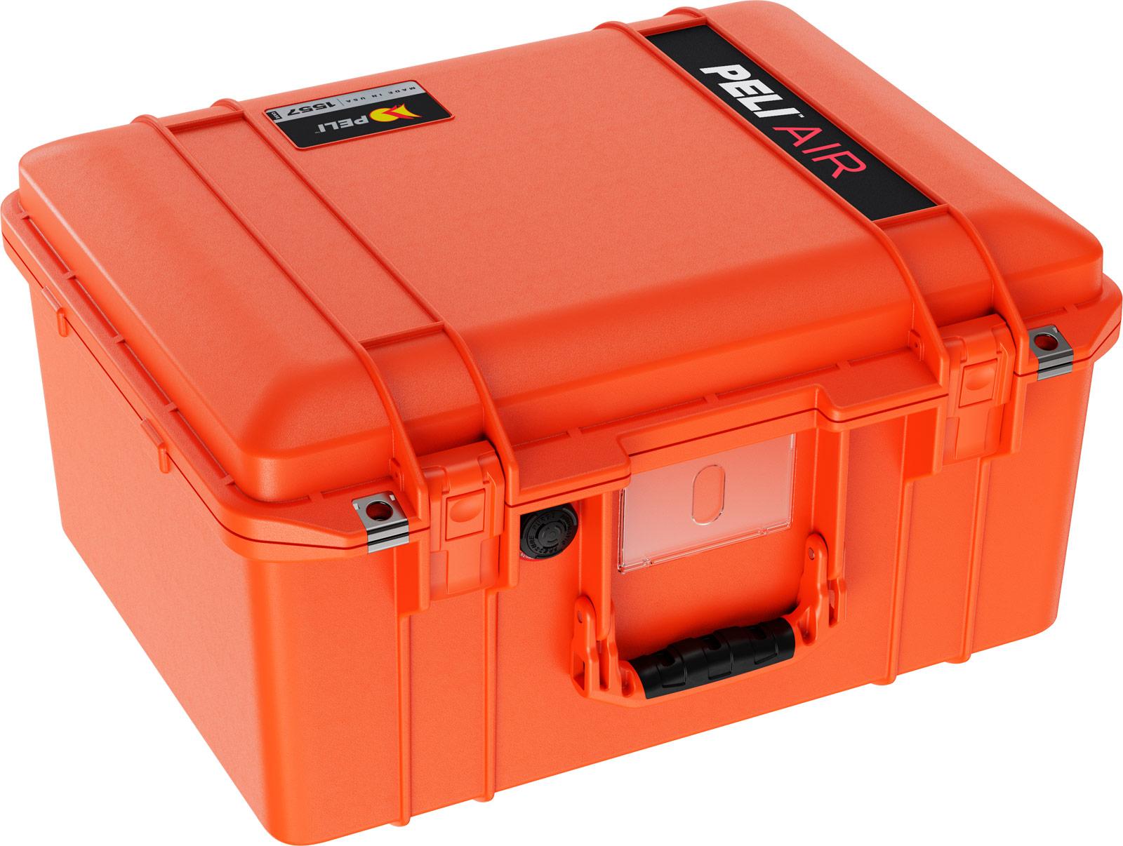 peli hard drone camera case orange