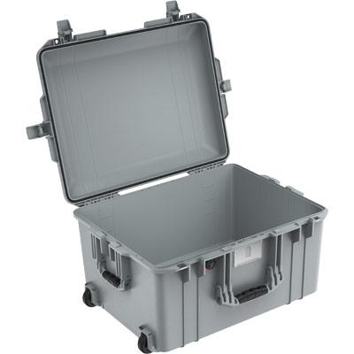 peli 1607 silver no foam air case