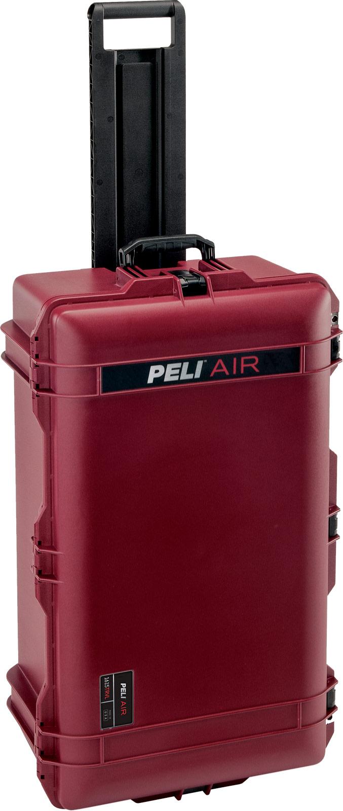 peli oxblood check in travel case