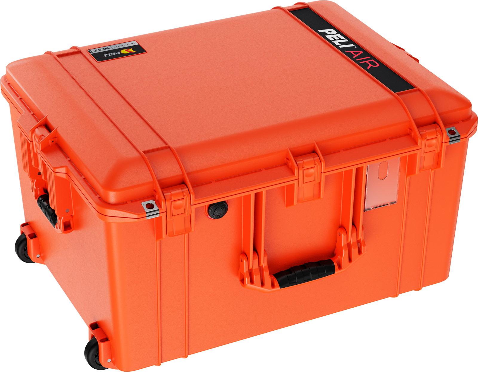 peli air travel rolling large case orange