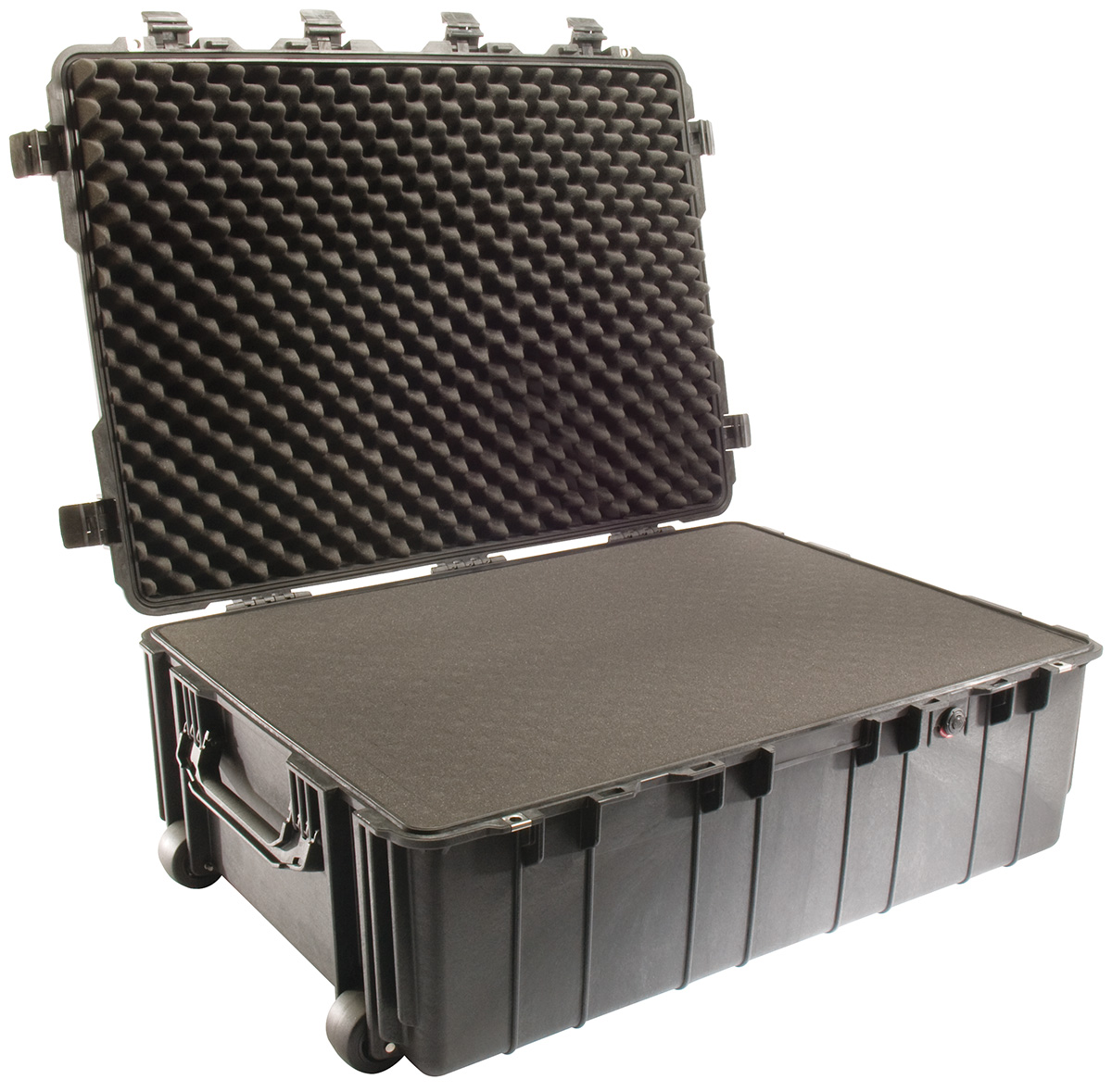 pelican hard military rolling transport case