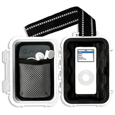 pelican i1010 white ipod nano waterproof case