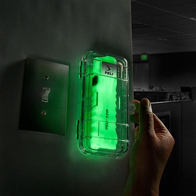 peli wall mount emergency glow led torch