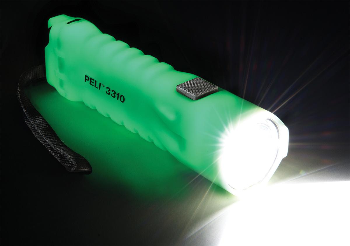 peli super bright 3310 glow dark led torch