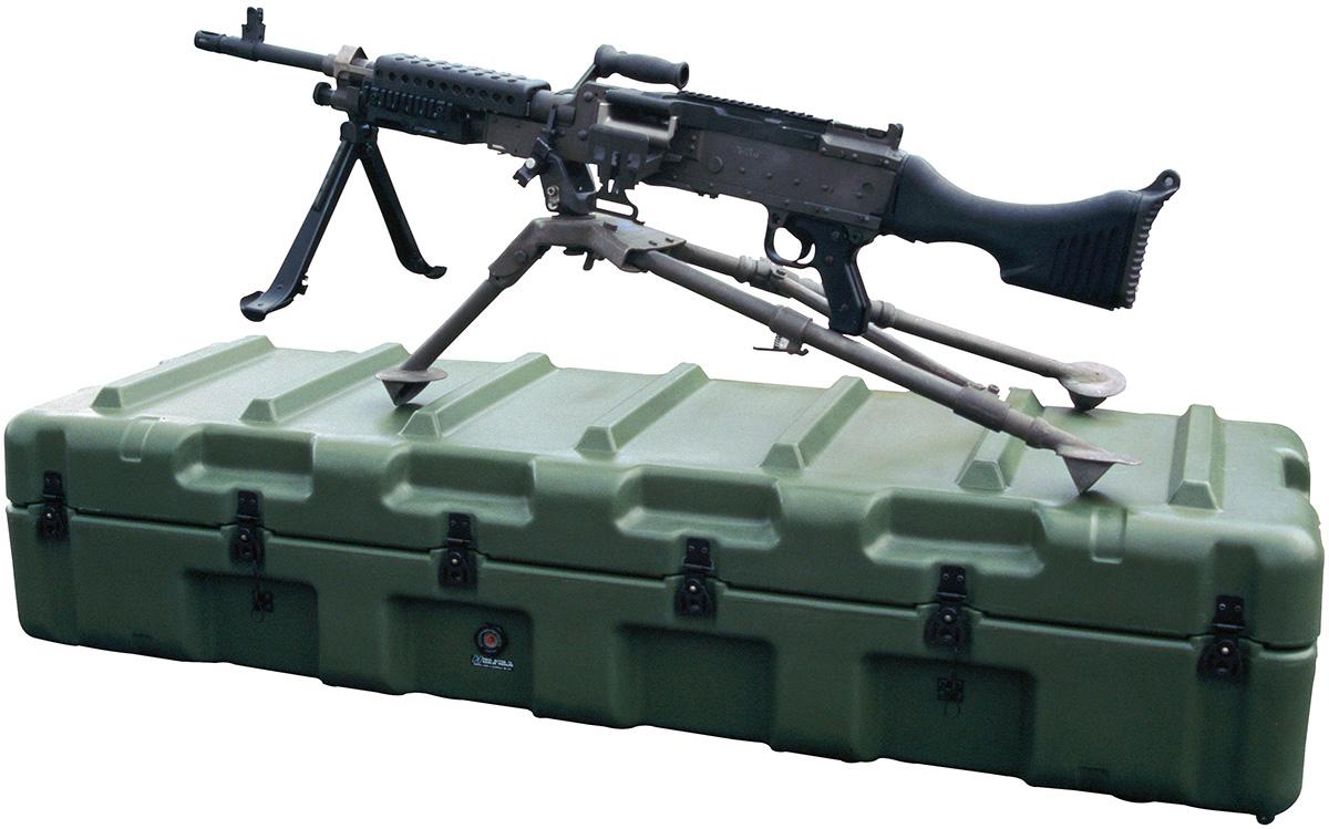 pelican military M240B machine gun case