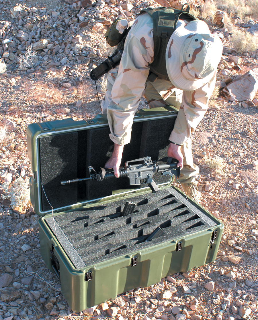 pelican military m4 m11 rifle transport case