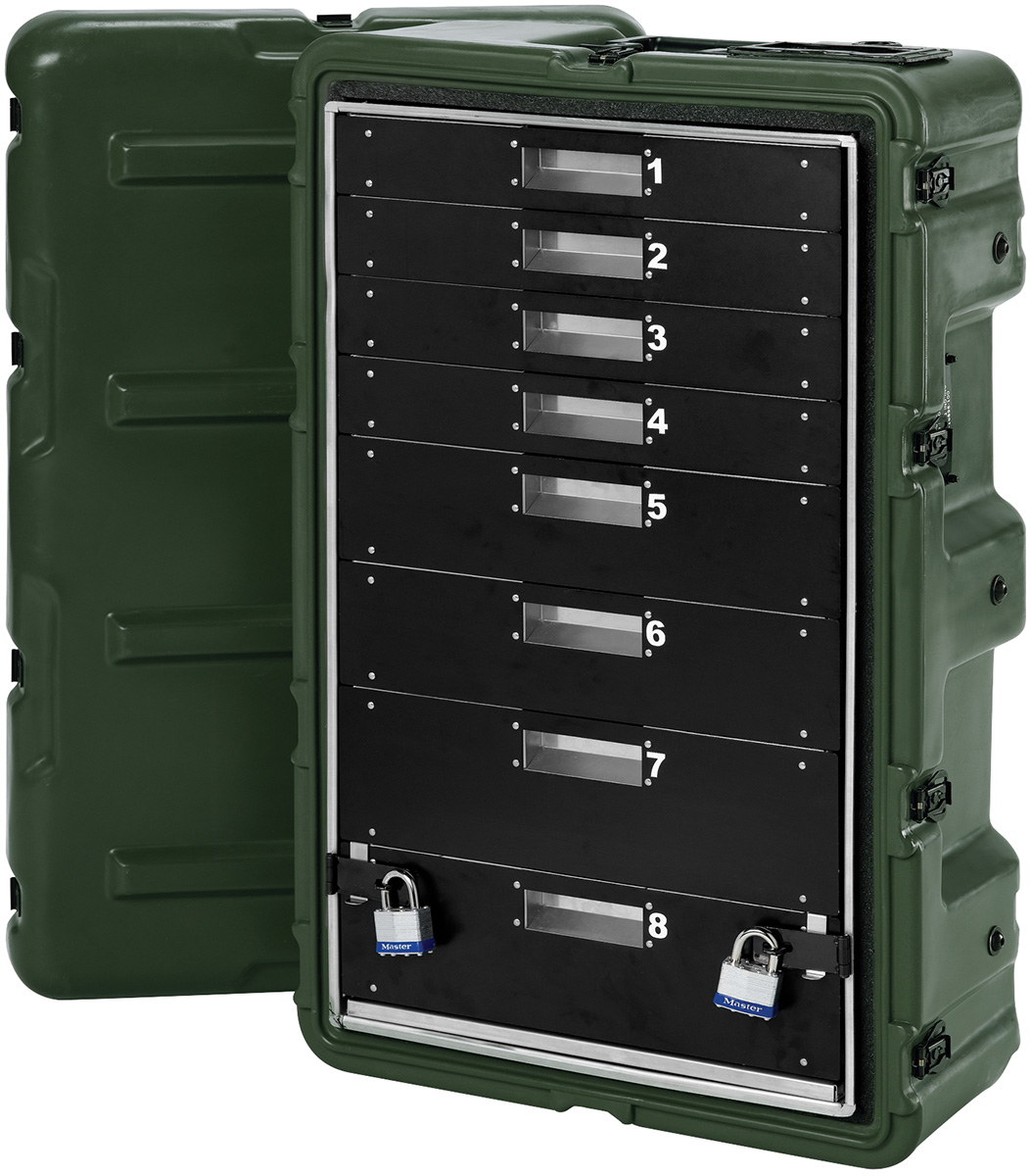 pelican mobile military medical cabinet