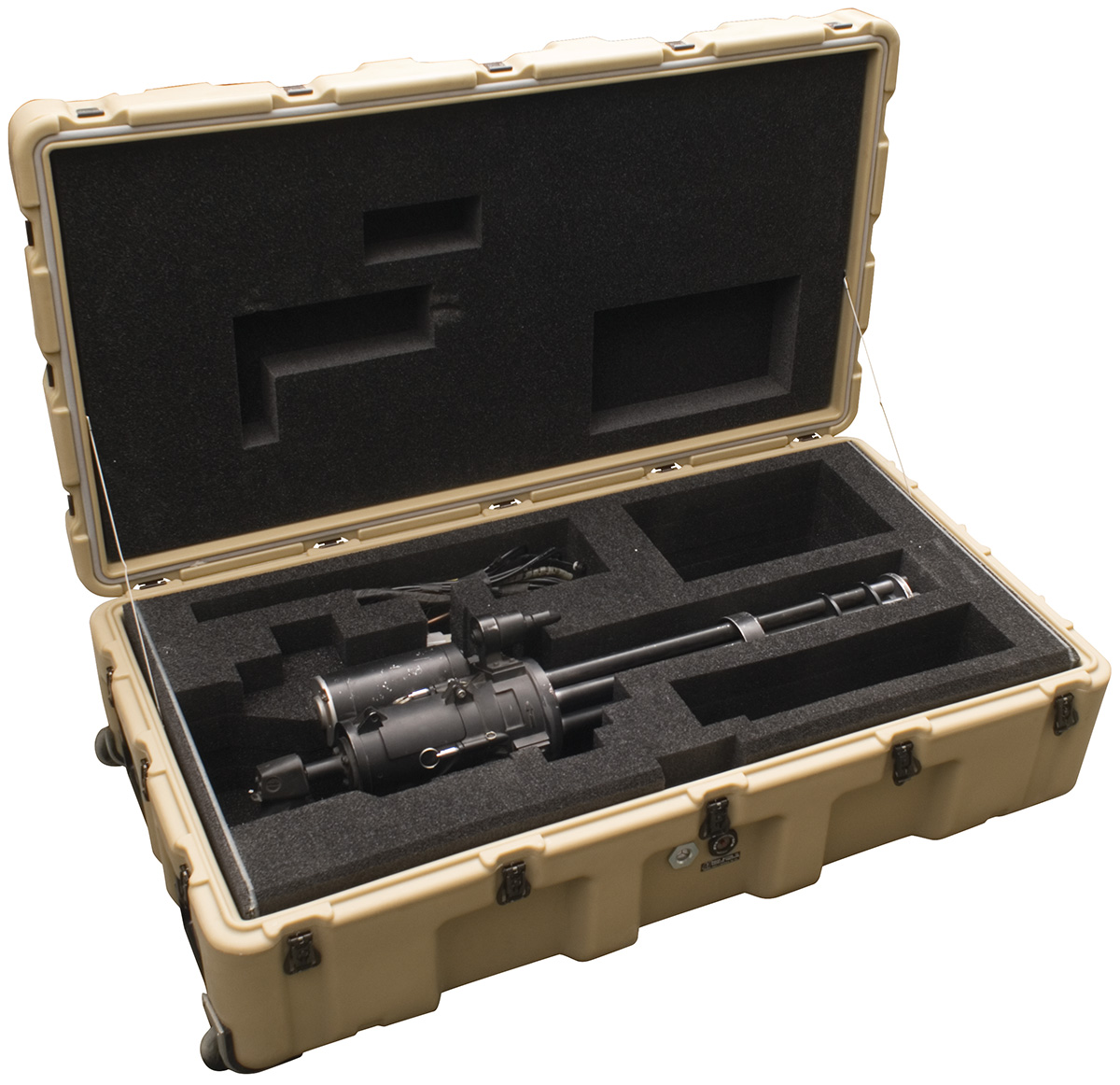 pelican usa military gatling minigun case