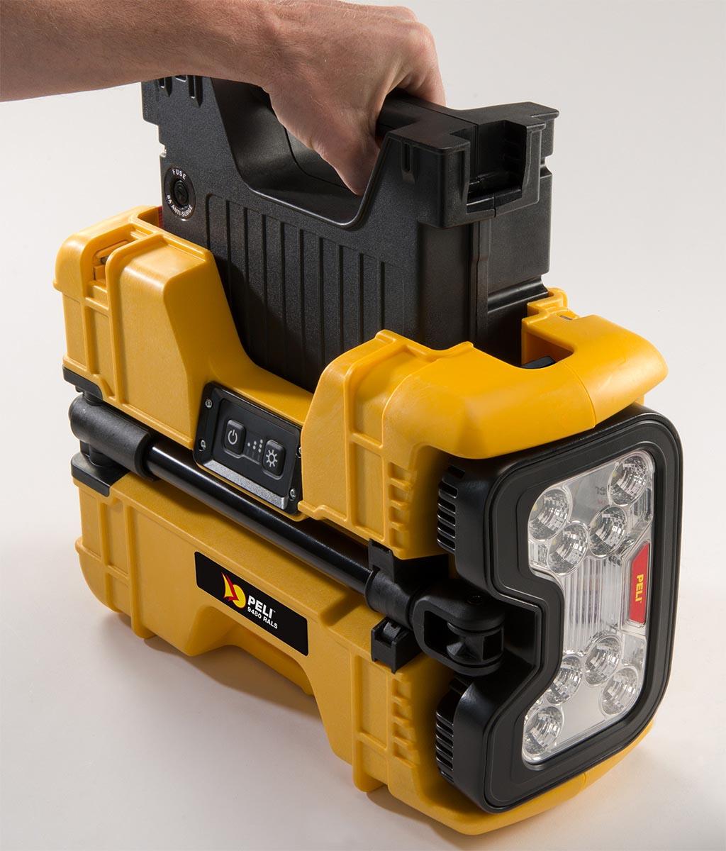 peli led spot light battery 9480 rals