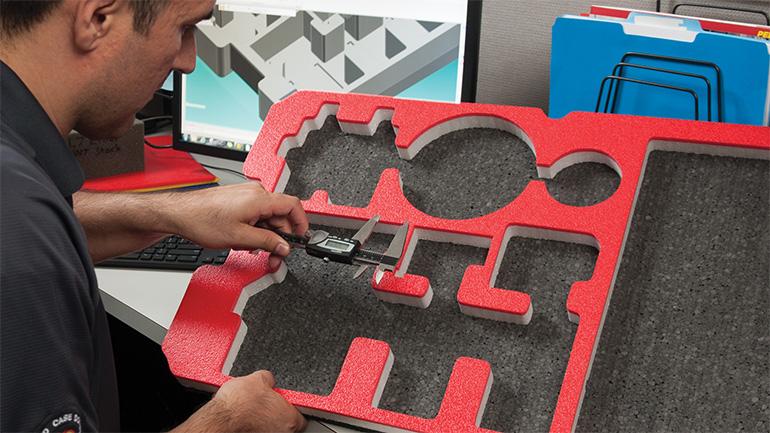 pelican custom case designed case foam