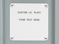 Pelican custom id plate label